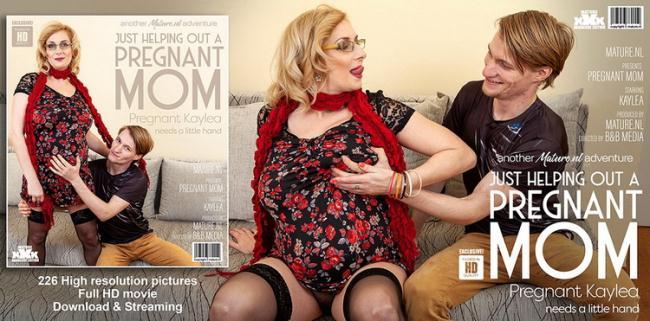 Mature.nl: Hairy Pregnant Mom Fucks Toyboy Starring: Kaylea (37)
