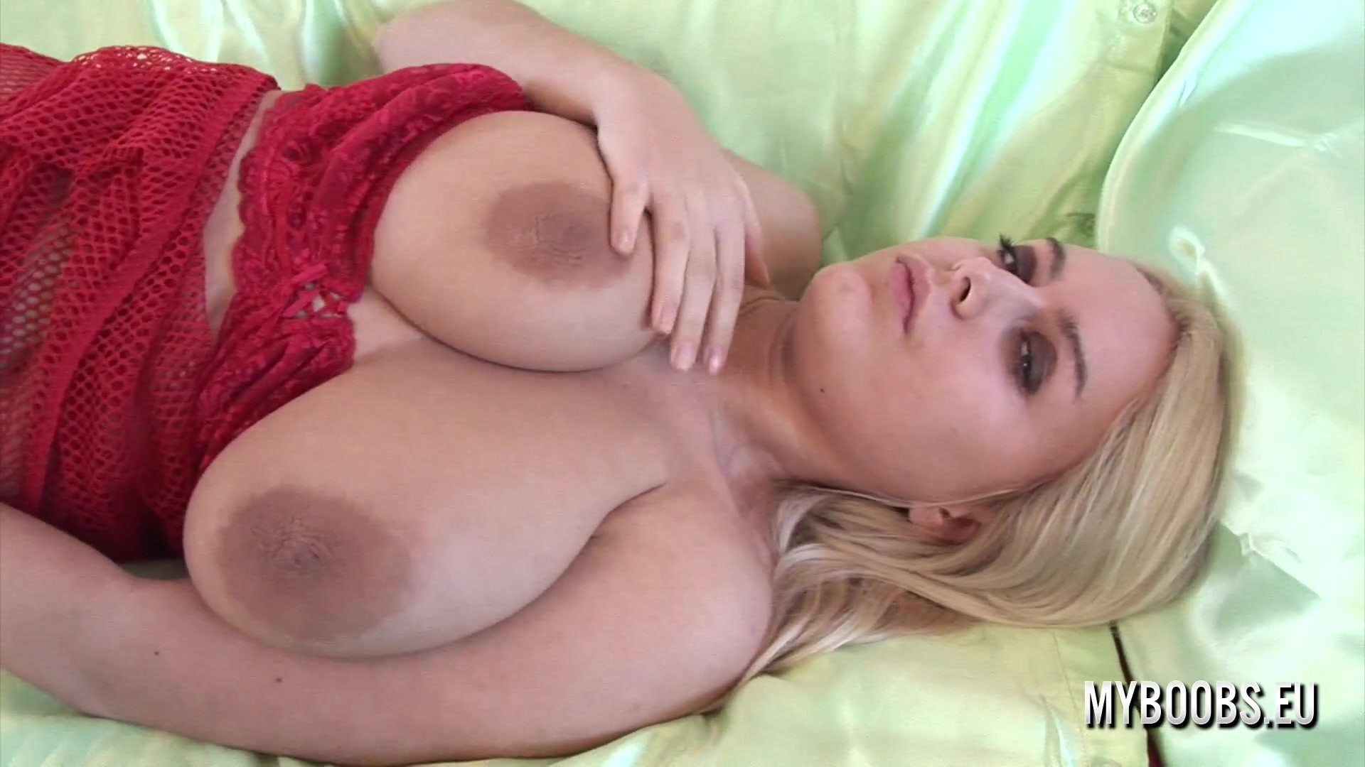 MyBoobs - Melissa Mandlikova Masturbate With Silver Vibrator In Red Lingerie - 1080p HDRip (08-13...