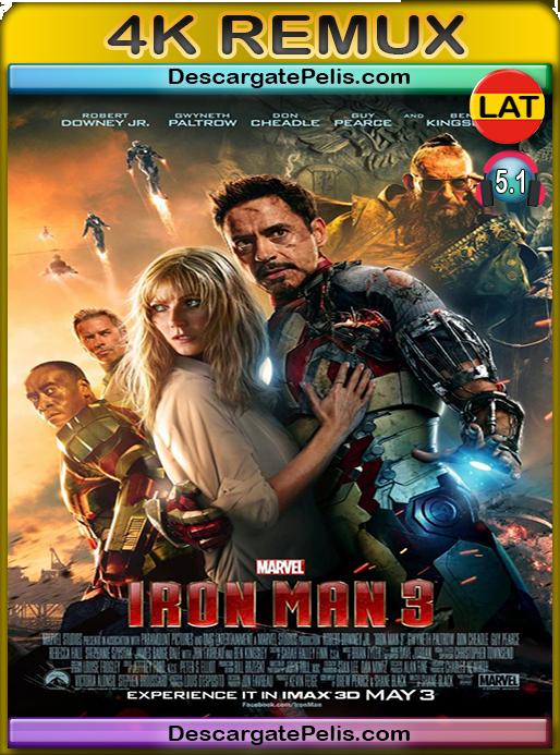 Iron man 3 2013 [BD4K Remux] [Latino-Inglés]