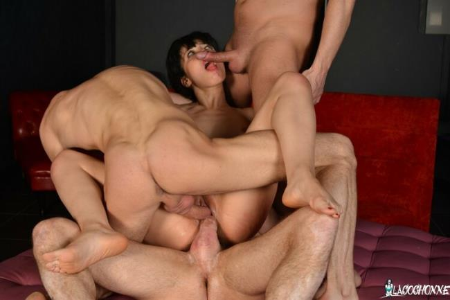 LaCochonne.com PornDoePremium.com: Hot French babe Yasmine gets DP in wild rough group fuck with 3 studs Starring: Yasmine