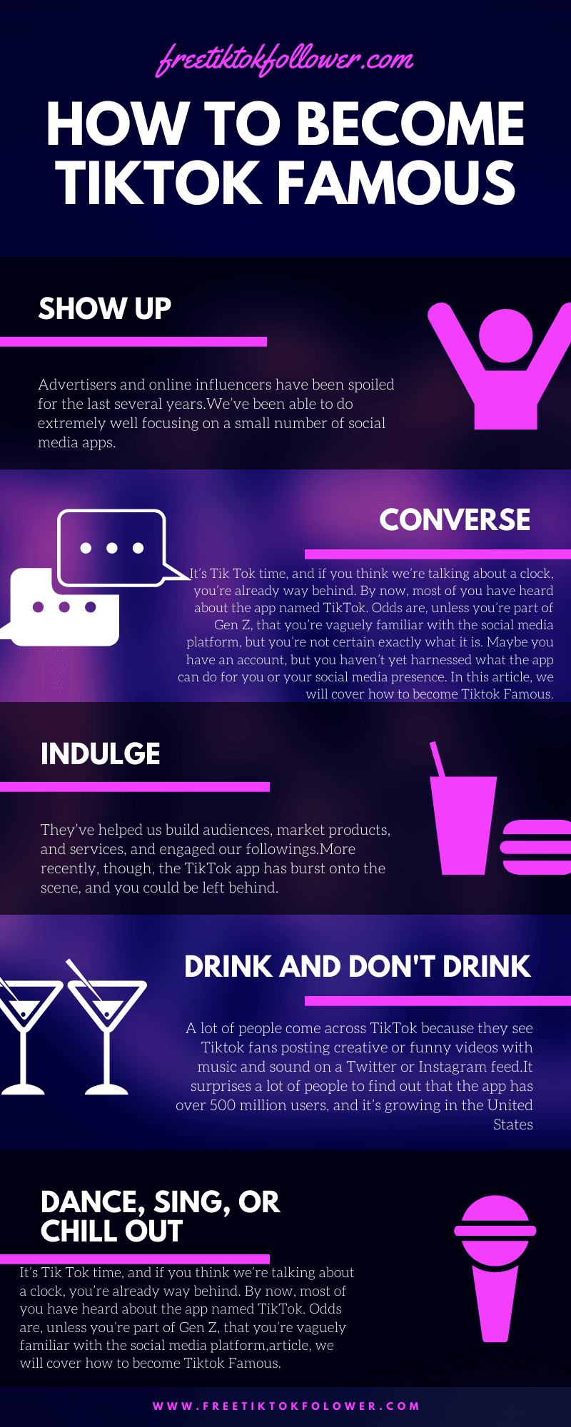 How to Become Tiktok Famous infographic by Freetiktokfollower.com.png