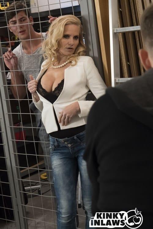 KinkyInLaws.com PornDoePremium.com: Hot Czech MILF Klara gets DP in hot threesome with stepson and friend Starring: Klara