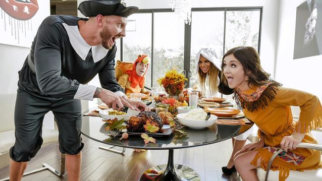 Brooklyn Chase - Thanksgiving Snatch Stuffing (2021 FamilyStrokes.com TeamSkeet.com) [FullHD   1080p  2.67 Gb]