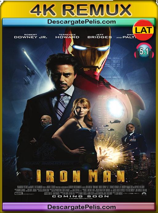 Iron man 2008 [BD4K Remux] [Latino-Inglés]