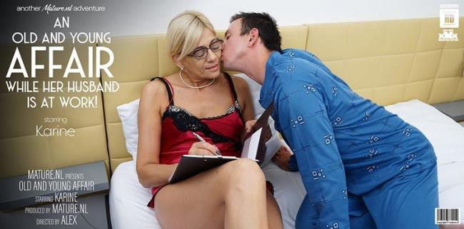 Mature.nl: Mature Karine loves young men in her bed while her husbands at work Starring: Karine C. (53)