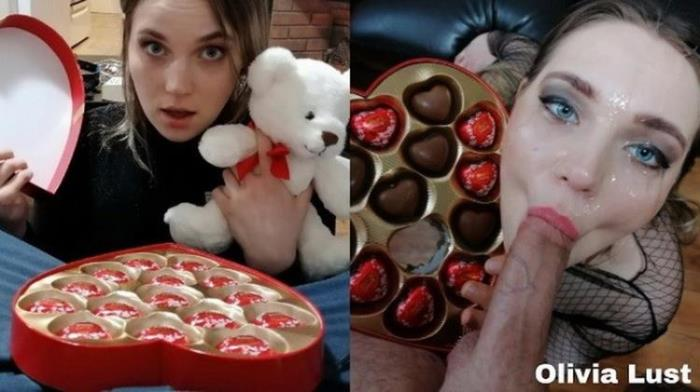 Porn.com: Valentine s Day Surprise leads to Sloppy Facefuck and Cum Covered Chocolate Starring: Olivia Lust