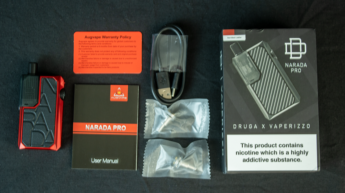 Augvape Narada Pro Package Contents