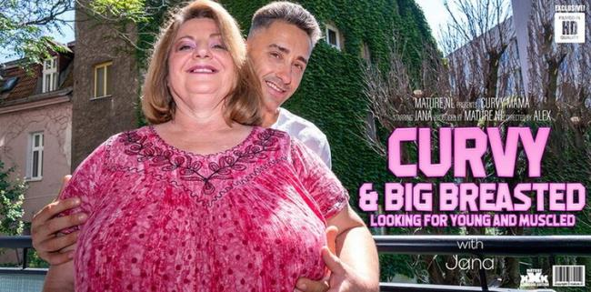 Jana (59): Curvy big breasted Jana loves younger muscled men[FullHD 1080p 1,48 Gb]