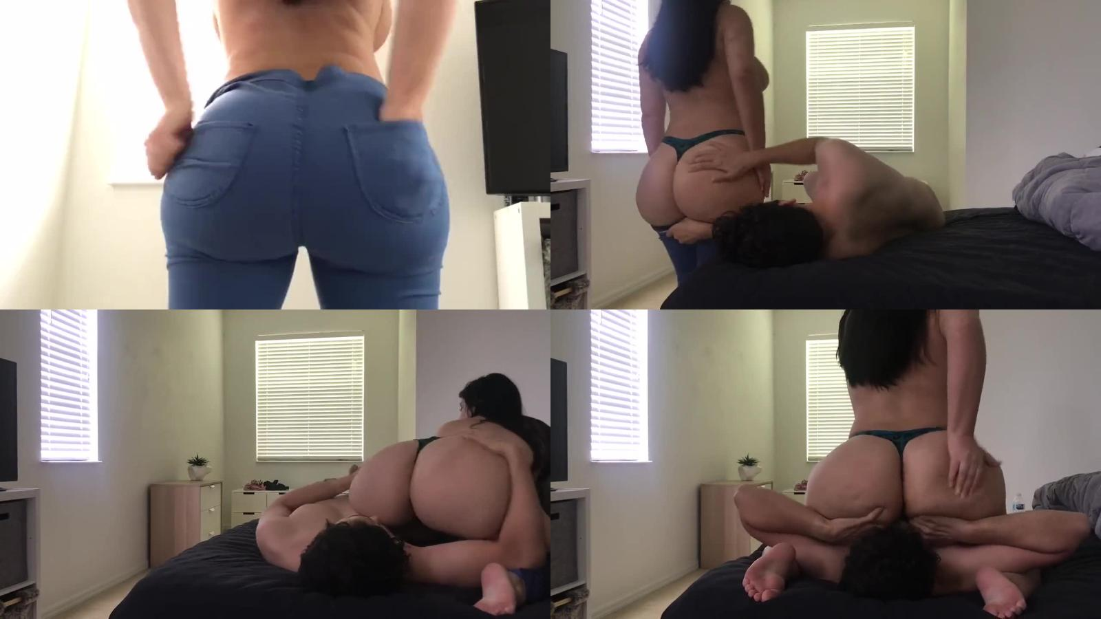 Crystal Lust – Big Booty PAWG Crystal Lust Jean Struggles and Face Sitting