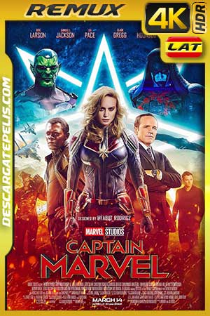 Captain Marvel 2019 4K BDRemux HDR Latino – Inglés
