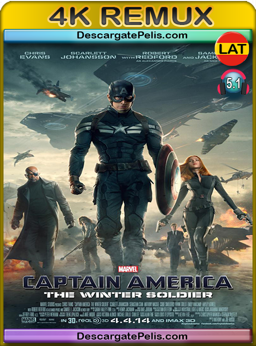 Captain America. The winter soldier (2014) BD4K Remux Latino-Inglés