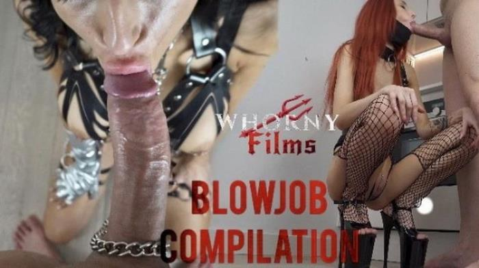 WHORNY FILMS - Pov blowjob compilation deepthroat in slutty outfits (2021 Porn.com) [HD   720p  147.56 Mb]