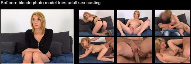 FakeAgent.com: Softcore blonde photo model tries adult sex casting Starring: Leona