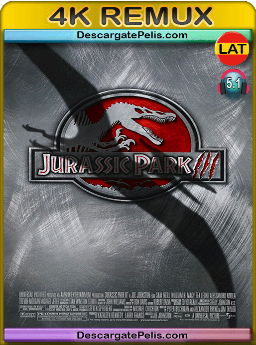 Jurassic park III 2001 BD4K Remux Latino – Inglés