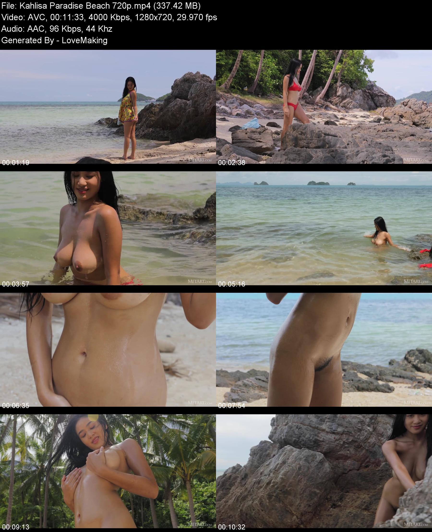 MetArt 20 09 15 Kahlisa Paradise Beach XXX 720p MP4-XXX