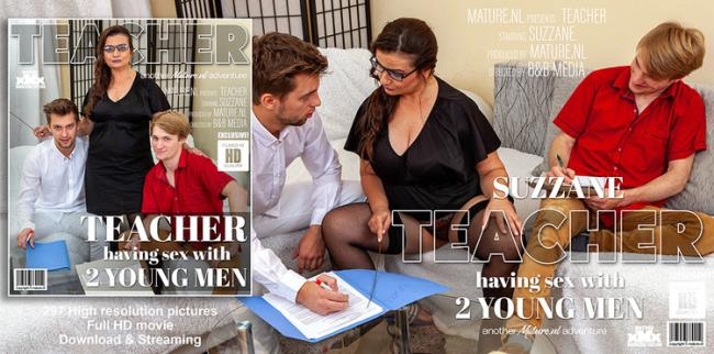 Suzzane - This naughty teacher has sex with two young men (2021 Mature.nl Mature.eu) [FullHD   1080p  1.76 Gb]